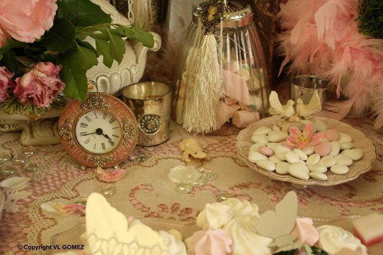 ... de table pompadour, Erika Vauquelin -mariage, table de fête